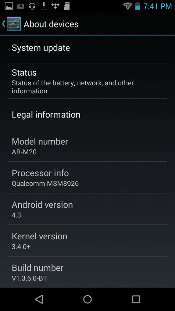AR-M20 about device