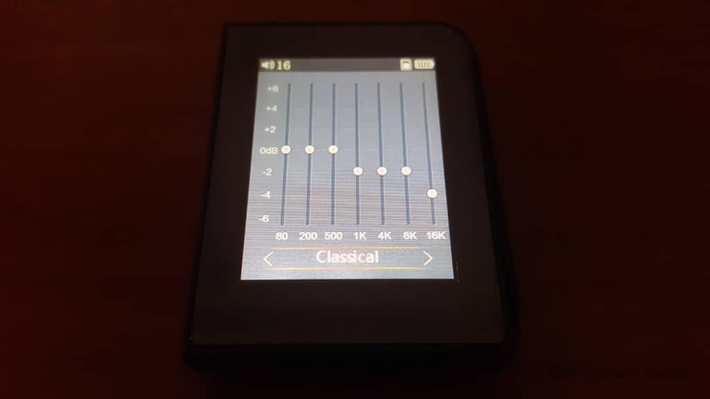 RUIZU A50 mp3 player review equalizer