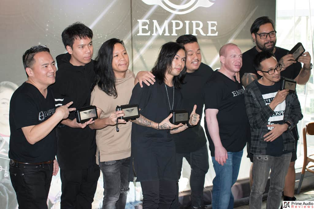 Empire Ears Thailand launch event artists