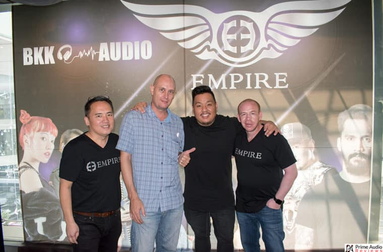 Empire Ears Thailand launch event Dean, crabbos, Jack and Seth