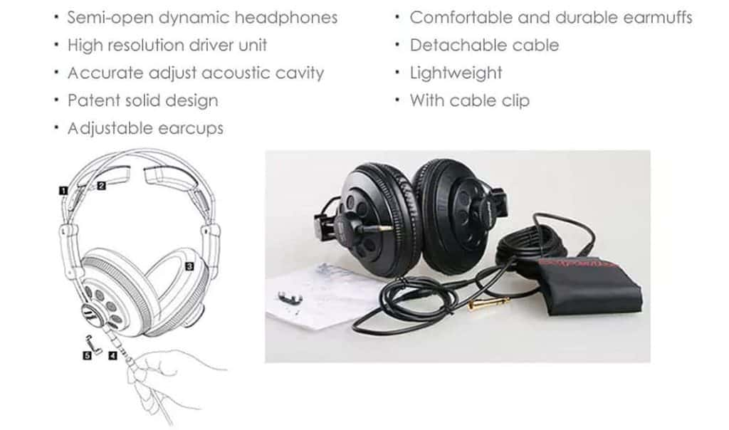 Superlux HD668B promo details