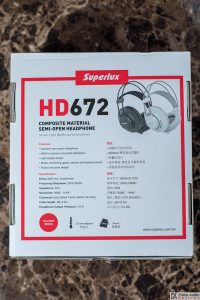 Superlux HD672 box back