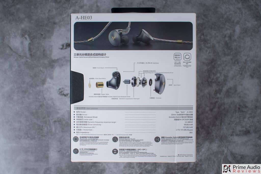 Whizzer Kylin A-HE03 box rear