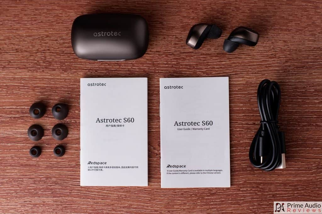 Astrotec S60 provided accessories