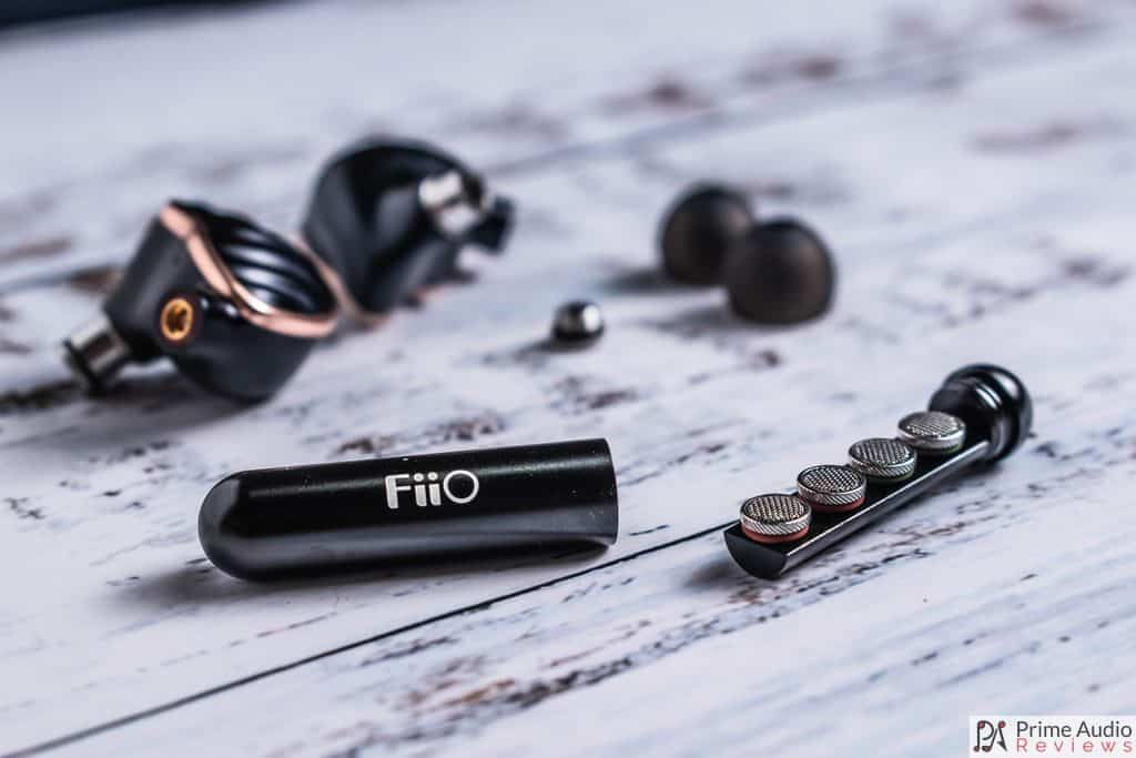 FiiO FH7 filters with storage capsule