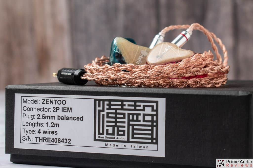 Han Sound Audio Zentoo on box with Fusion