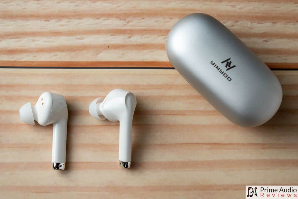 The Q70 TWS earphones with charging case