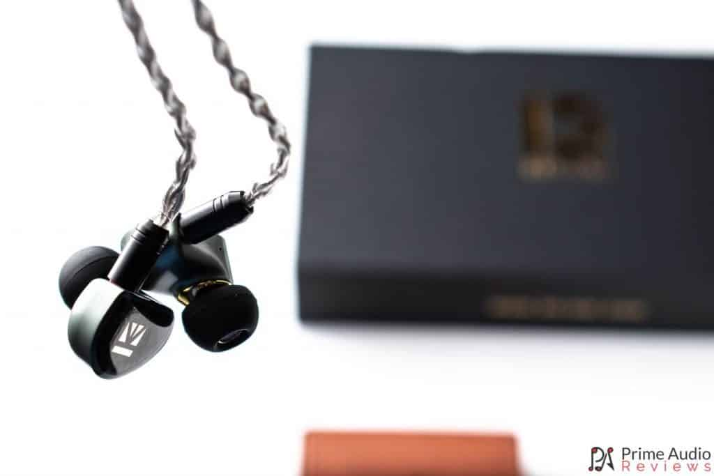 Hanging earpieces with box and carry case
