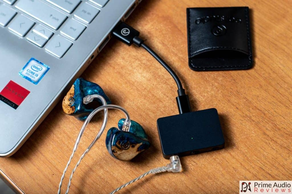 Earstudio HUD100 with laptop and Craft Ears Craft FOUR CIEM