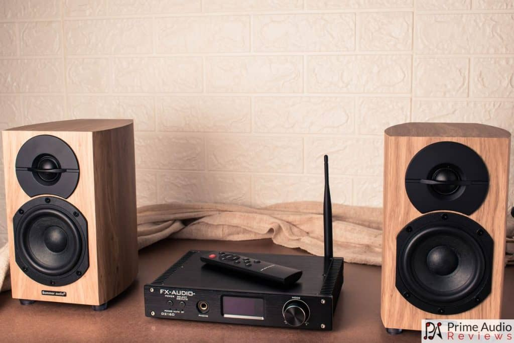 Summer Audio A-401 speakers with FX-Audio D2160 DAC/amplifier