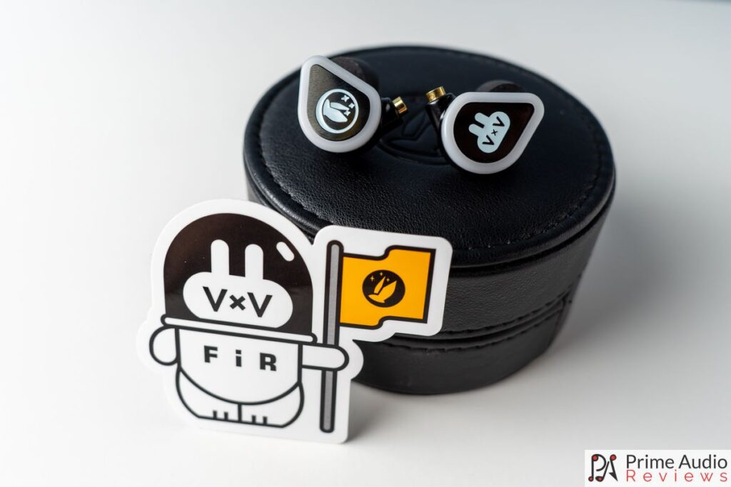 VxV earphones with case and Firry sticker