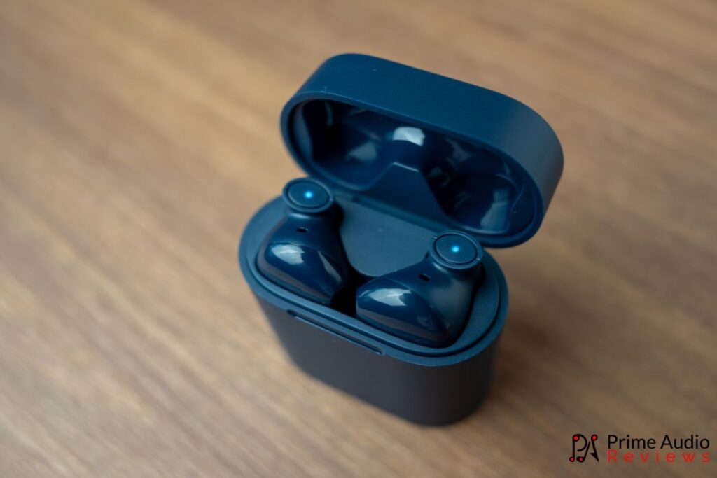The charging case with MoriPods inside