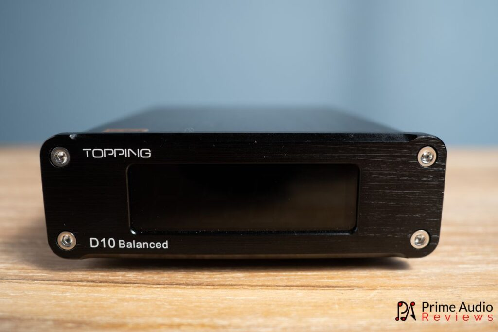 TOPPING D10 Balanced front panel